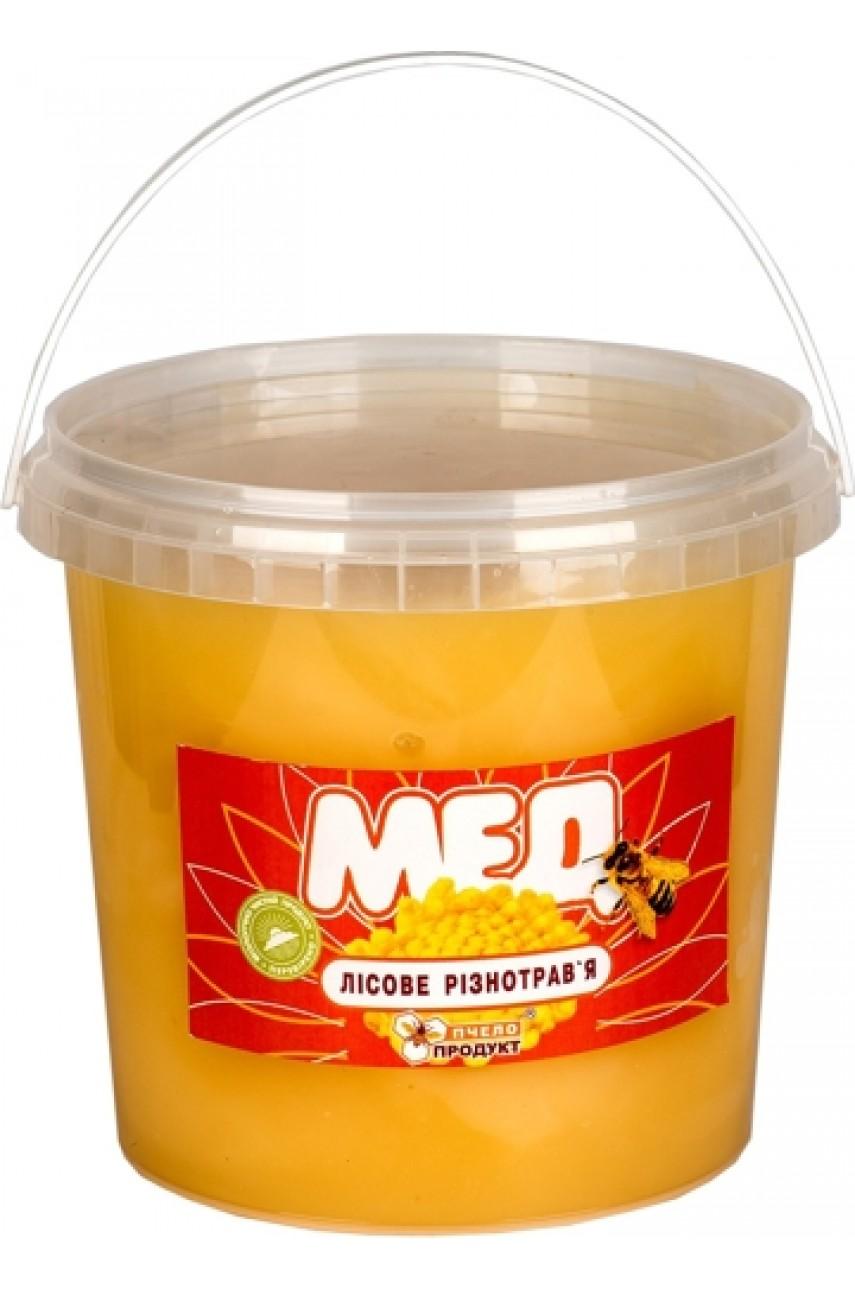 Мед Лесное разнотравье, 1,5 кг (пластик)