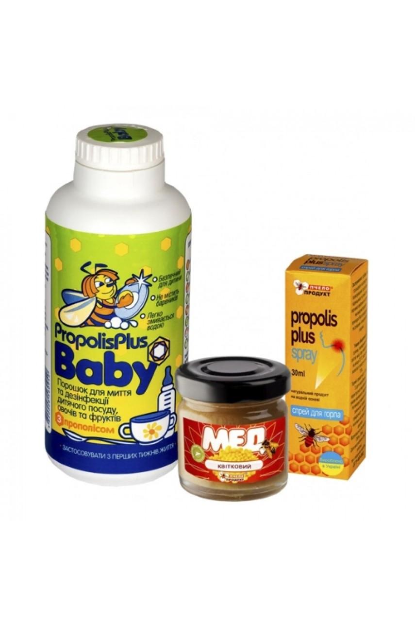 """Подарочный набор """"Propolis Plus Baby + спрей Propolis Plus + Мед Цветочный"""""""